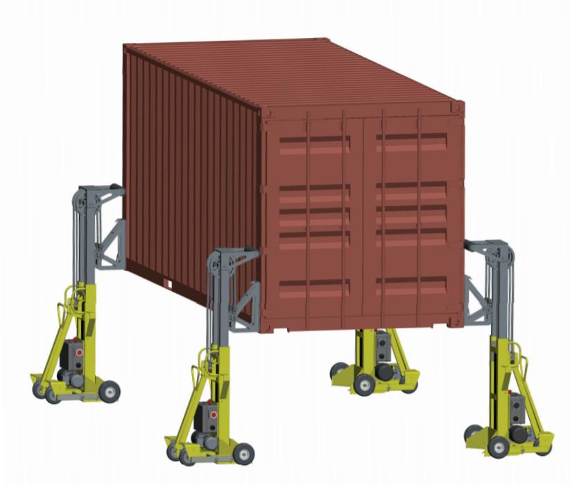 Автоматическая мобильная система для подъема контейнеров