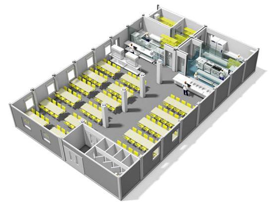 Модульная столовая на 100 мест