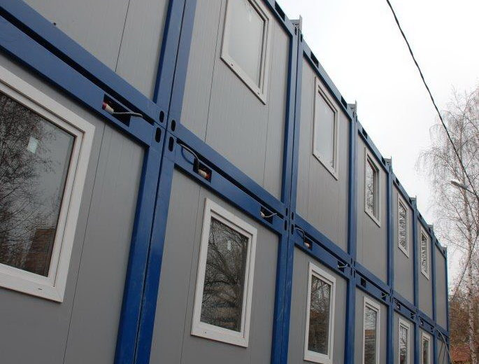 Модульное общежитие из блок контейнеров