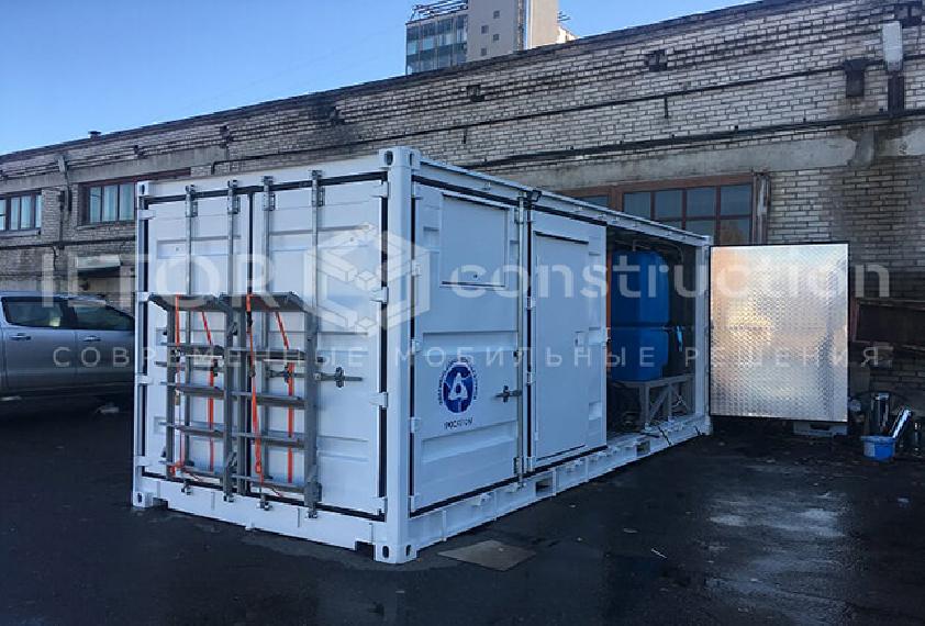 Переоборудование контейнера для установки оборудования