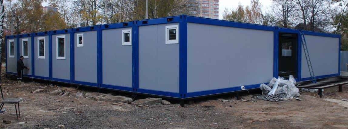 Модульное здание из контейнеров