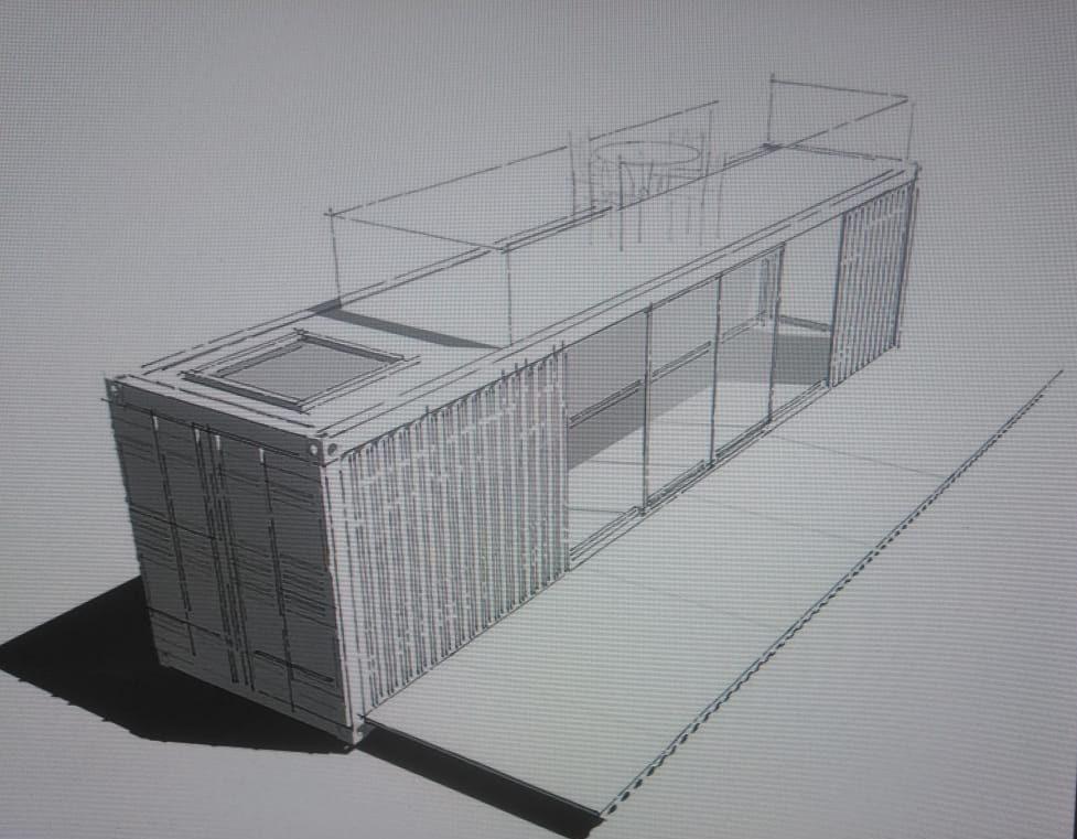 Эскиз дома из 40 футового контейнера