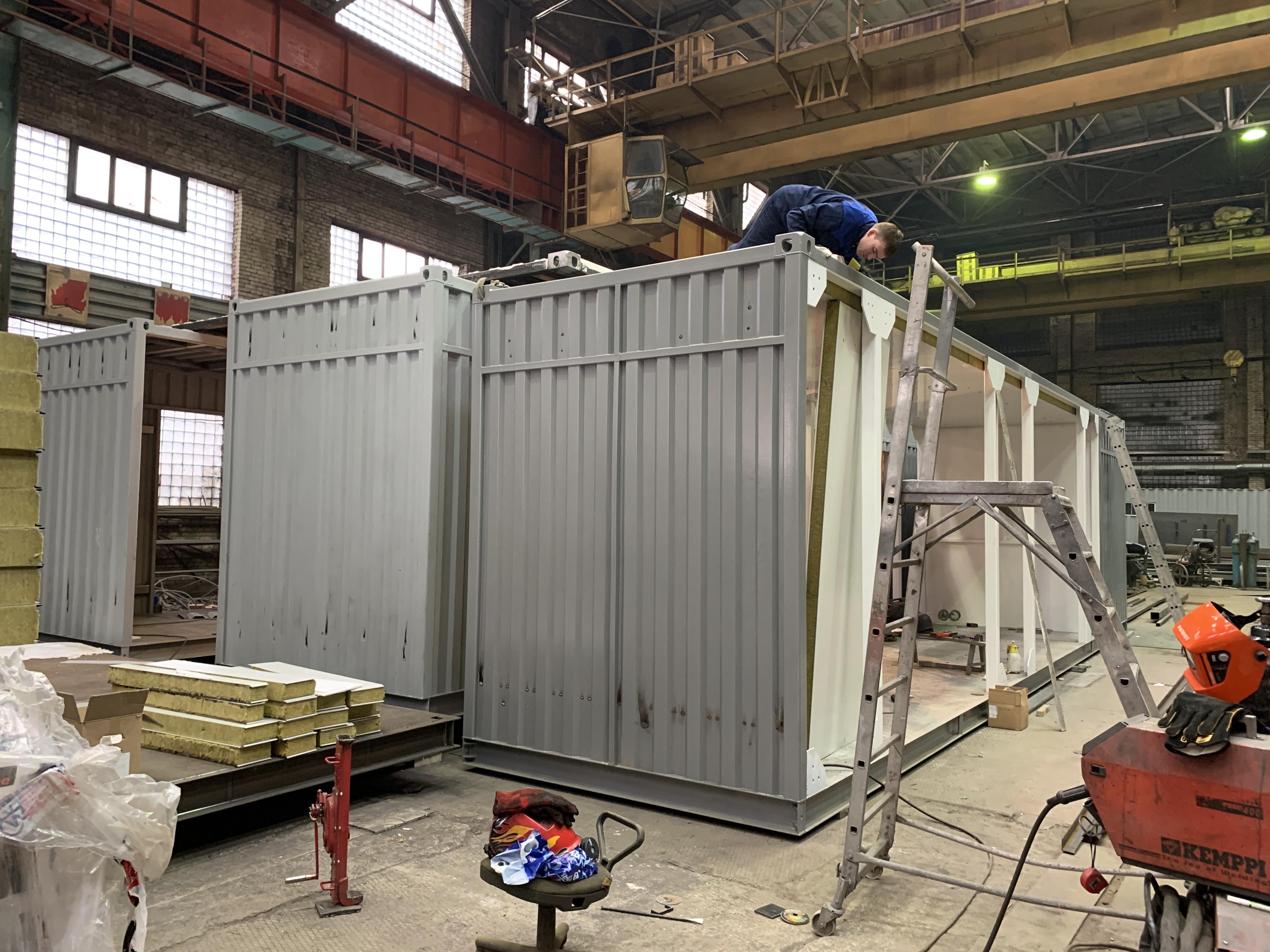 Производство контейнеров в СПб для компрессорной станции