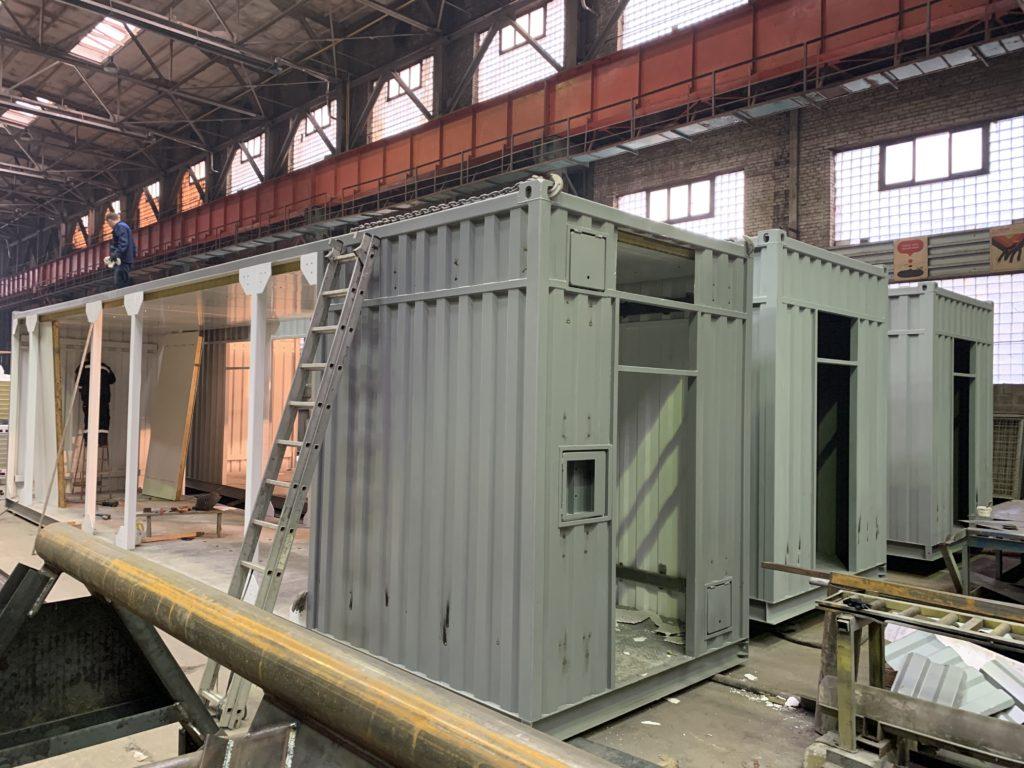 Контейнер цельнометаллический для оборудования