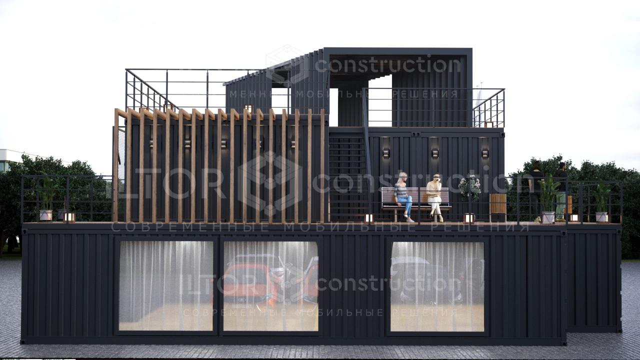 Строительство зданий из морских контейнеров