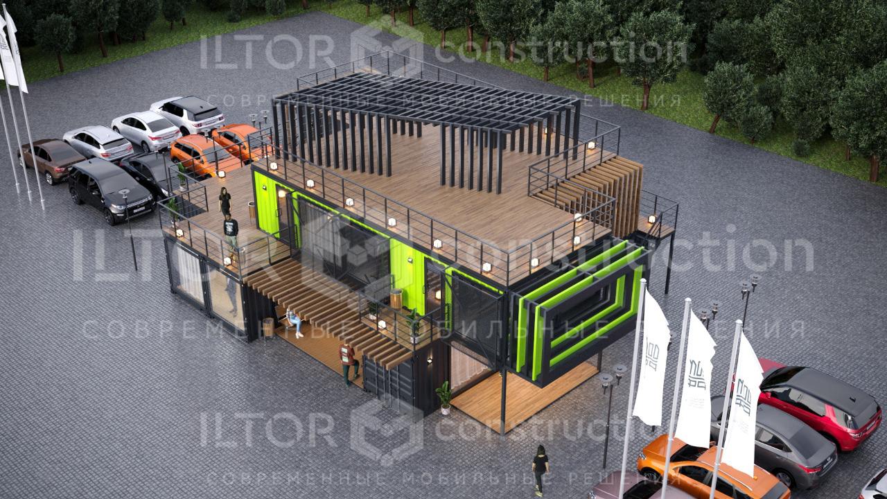Модульное здание из морских контейнеров