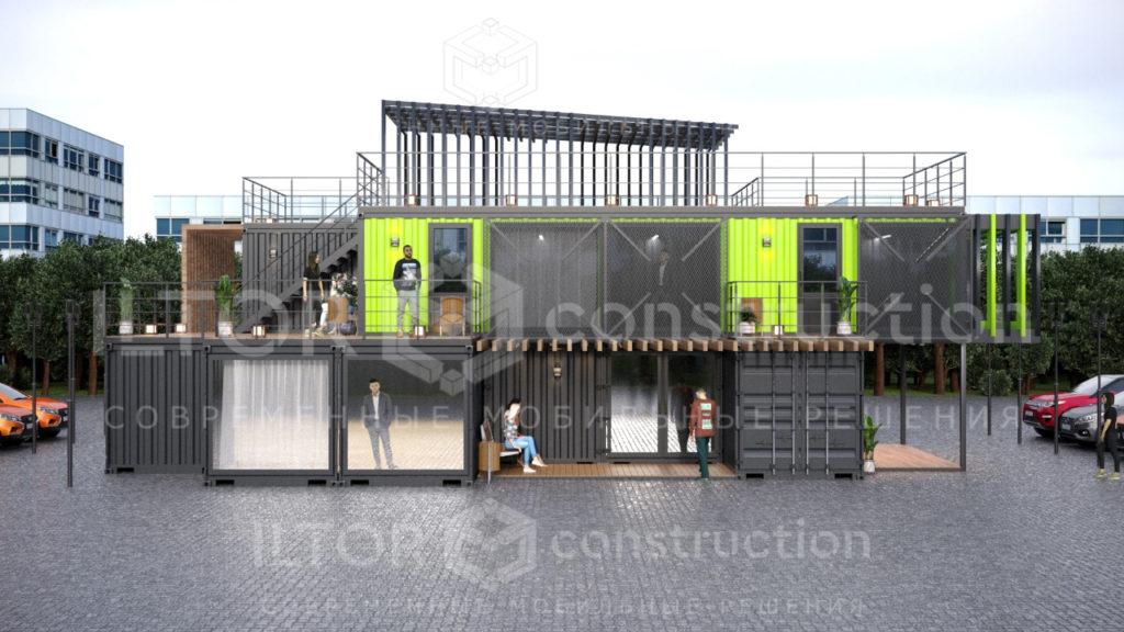 Дизайн проект офиса из контейнеров
