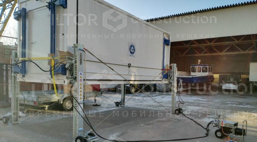 Полуавтоматические домкраты для контейнеров