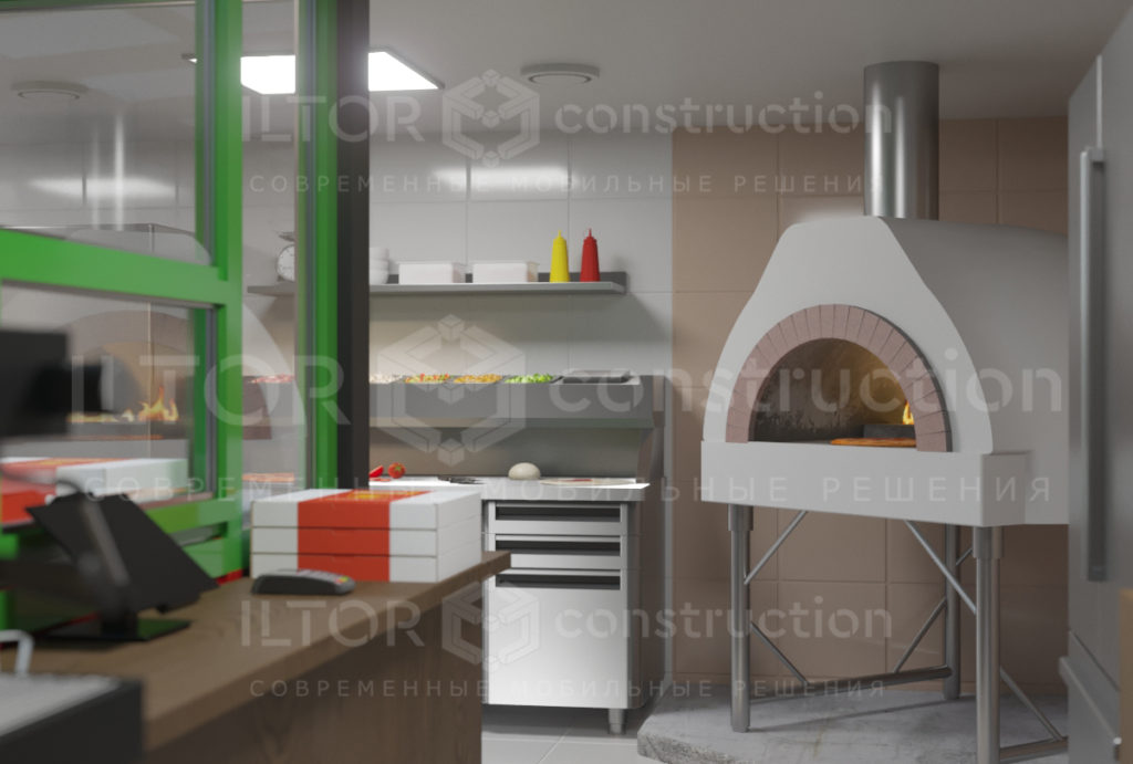 Кафе пекарня из контейнера дизайн проект