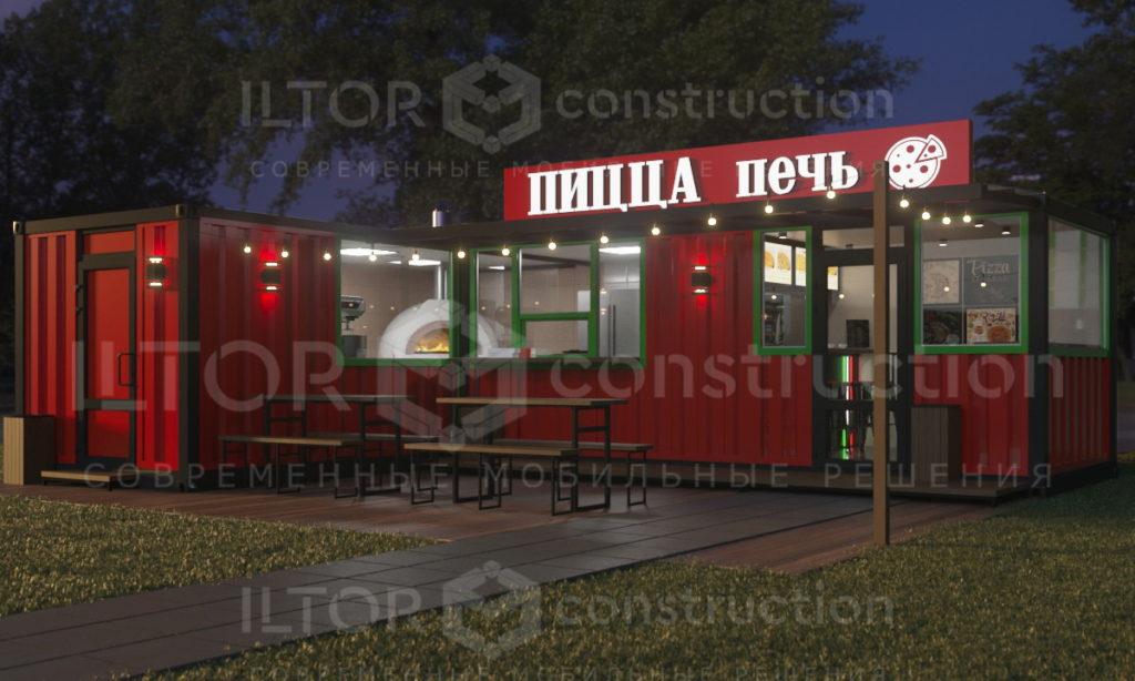 Дизайн и проектирование кафе баров магазинов из контейнеров