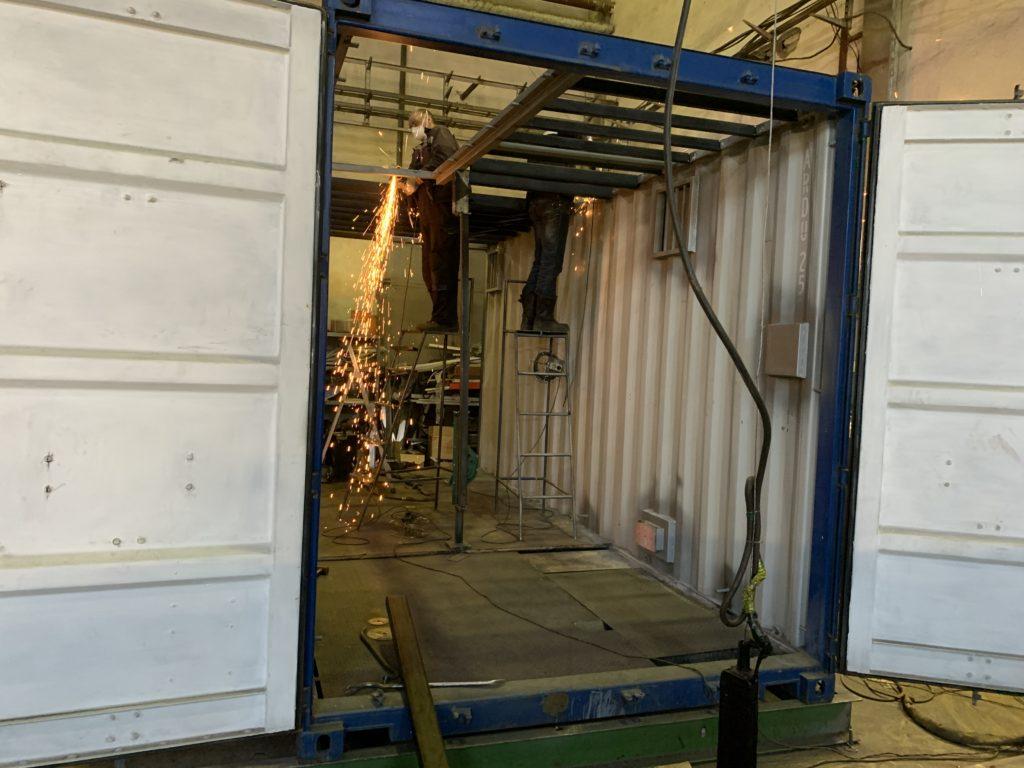 Переоборудование морских контейнеров