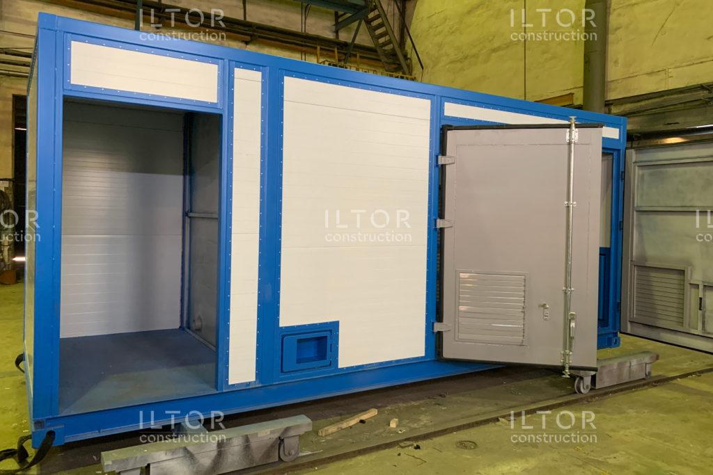Блок контейнер из сэндвич панелей для оборудования