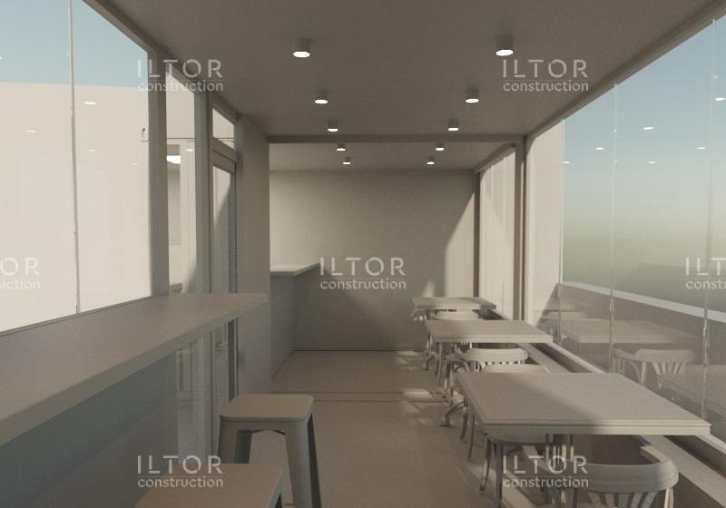 Дизайн проект кафе из морских контейнеров