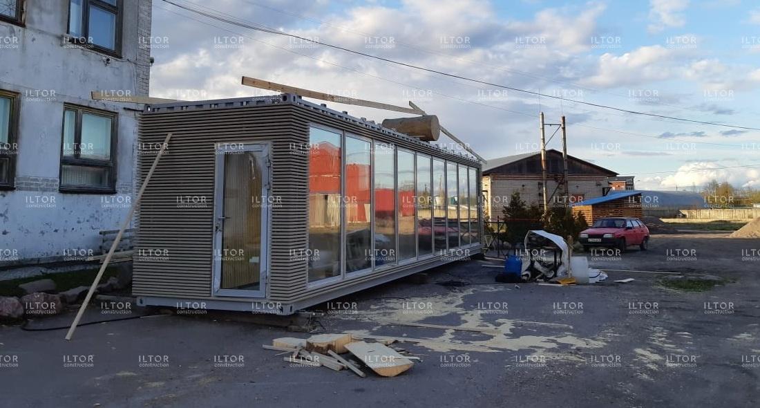 Шоу-рум магазин из морского контейнера 40 футов