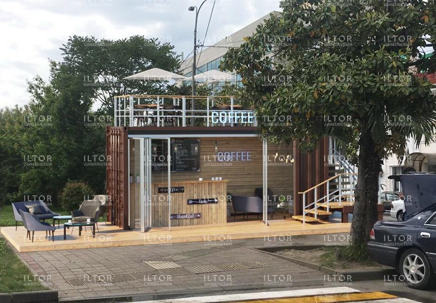 Дизайн проект кафе из морского контейнера