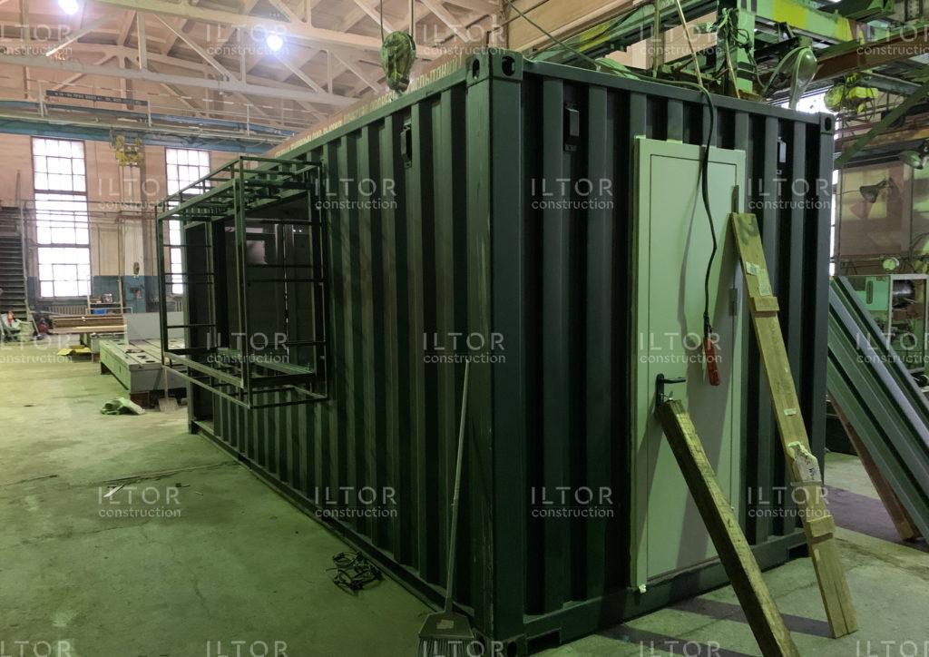 Переоборудование контейнера для кафе шавермы
