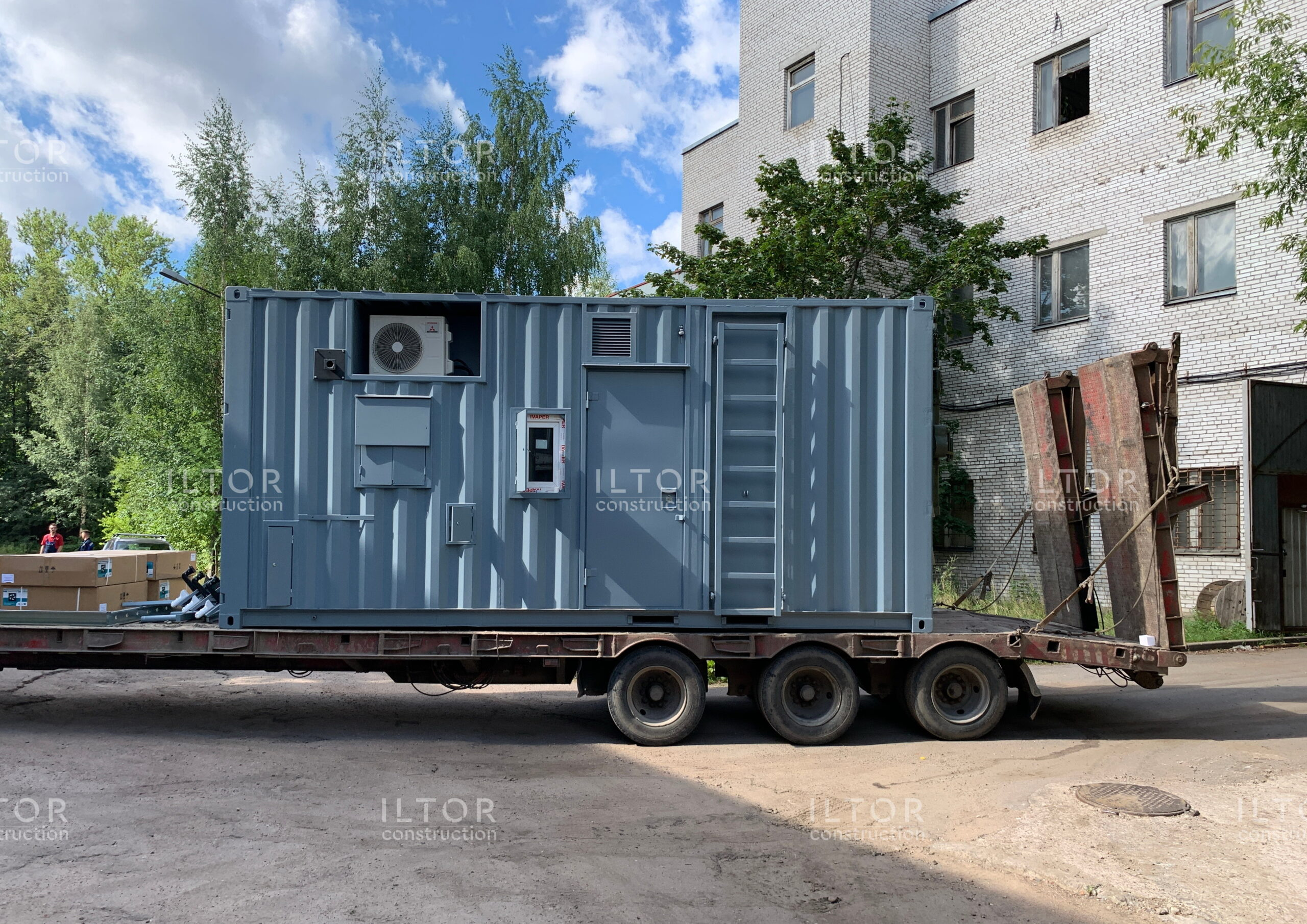 Переоборудование 20 футового контейнера для нужд силовых структур РФ