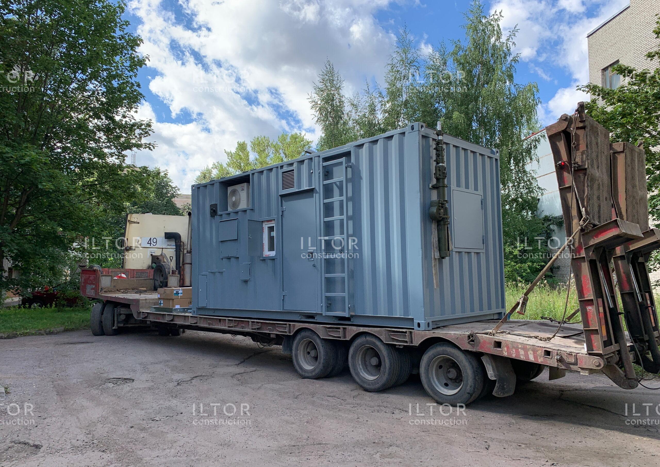 Переделка контейнера 20 футов для радиолокационной станции