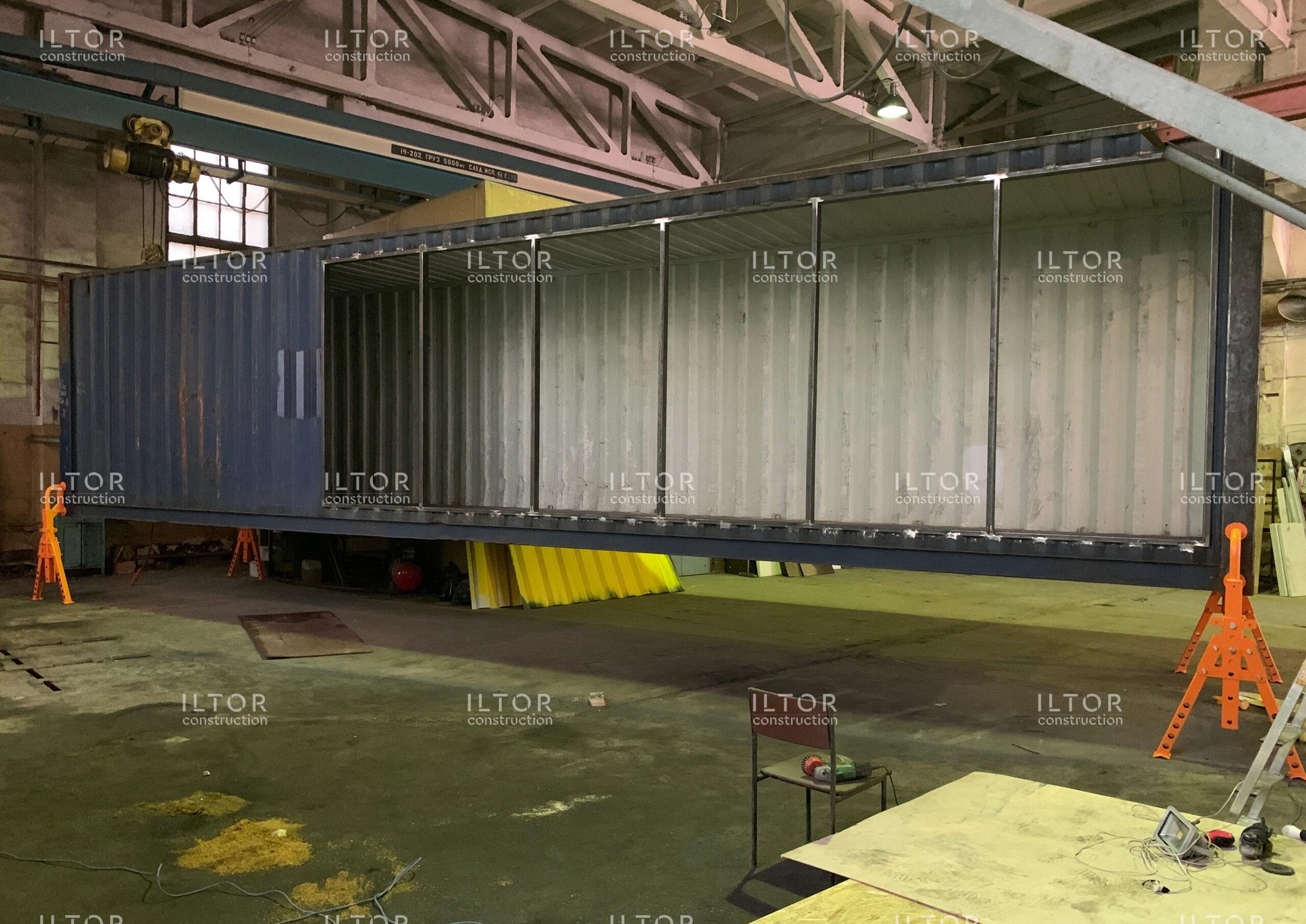 Переоборудование морского контейнера 40 футов